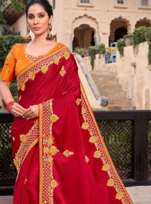 Embroidered Designer Contemporary Saree