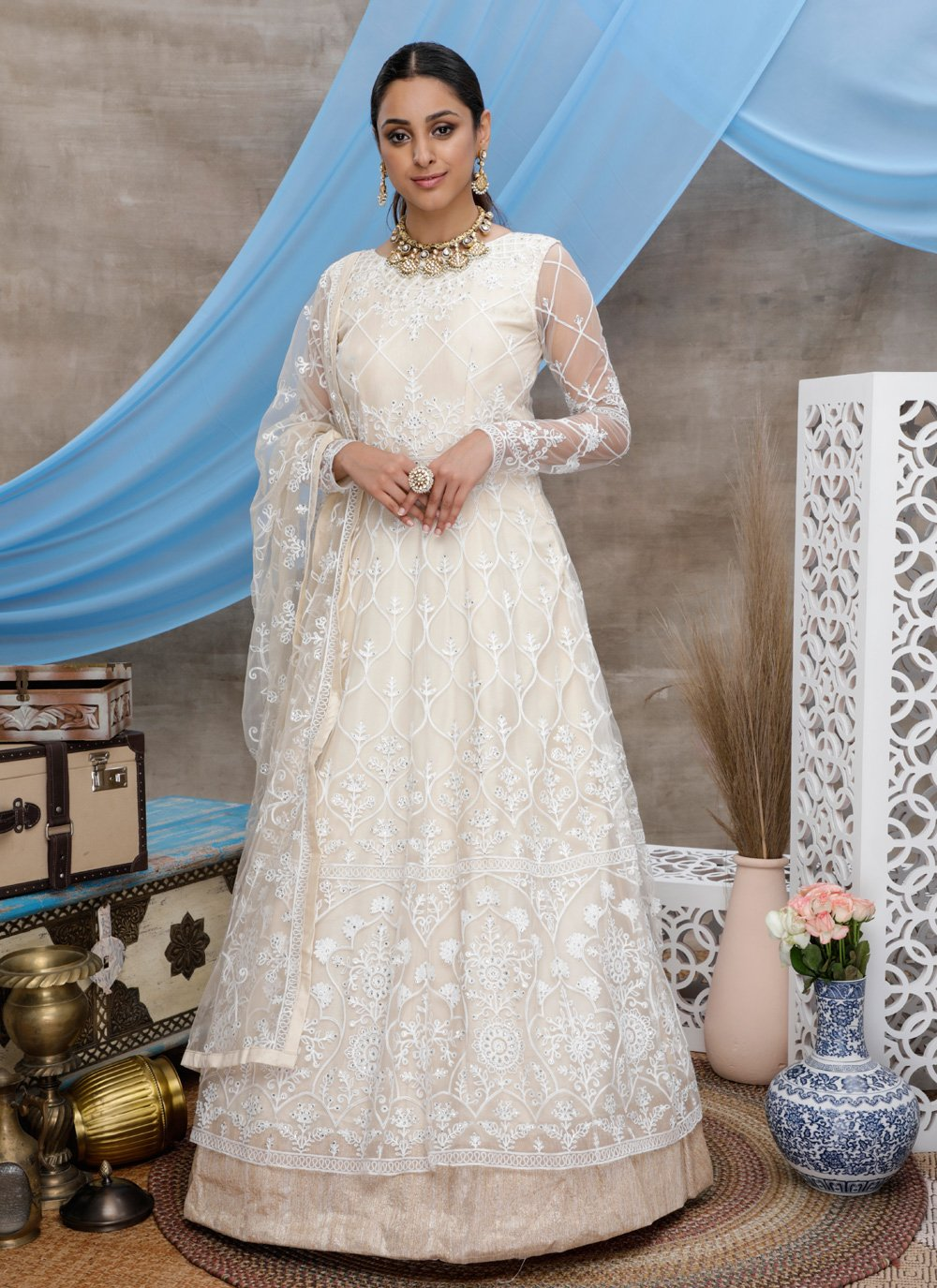 Embroidered Designer Gown