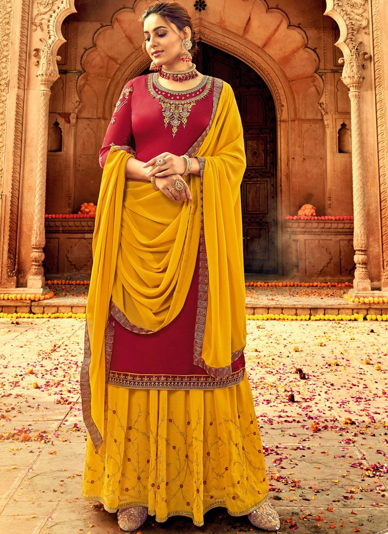 Embroidered Designer Palazzo Salwar Suit