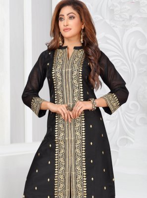 Embroidered Designer Palazzo Suit