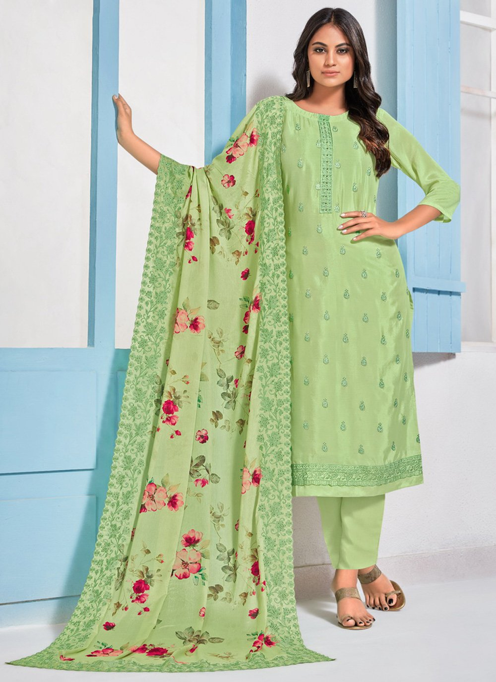 Embroidered Designer Straight Salwar Kameez