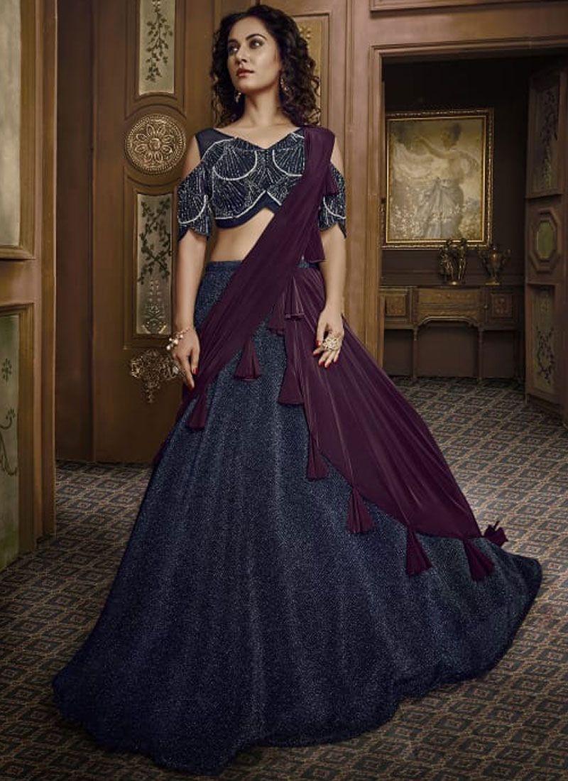 Embroidered Fancy Fabric Designer Lehenga Choli