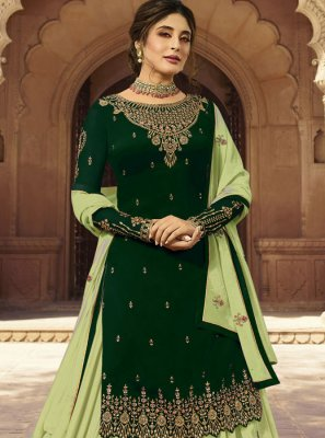 Embroidered Faux Georgette Designer Lehenga Choli