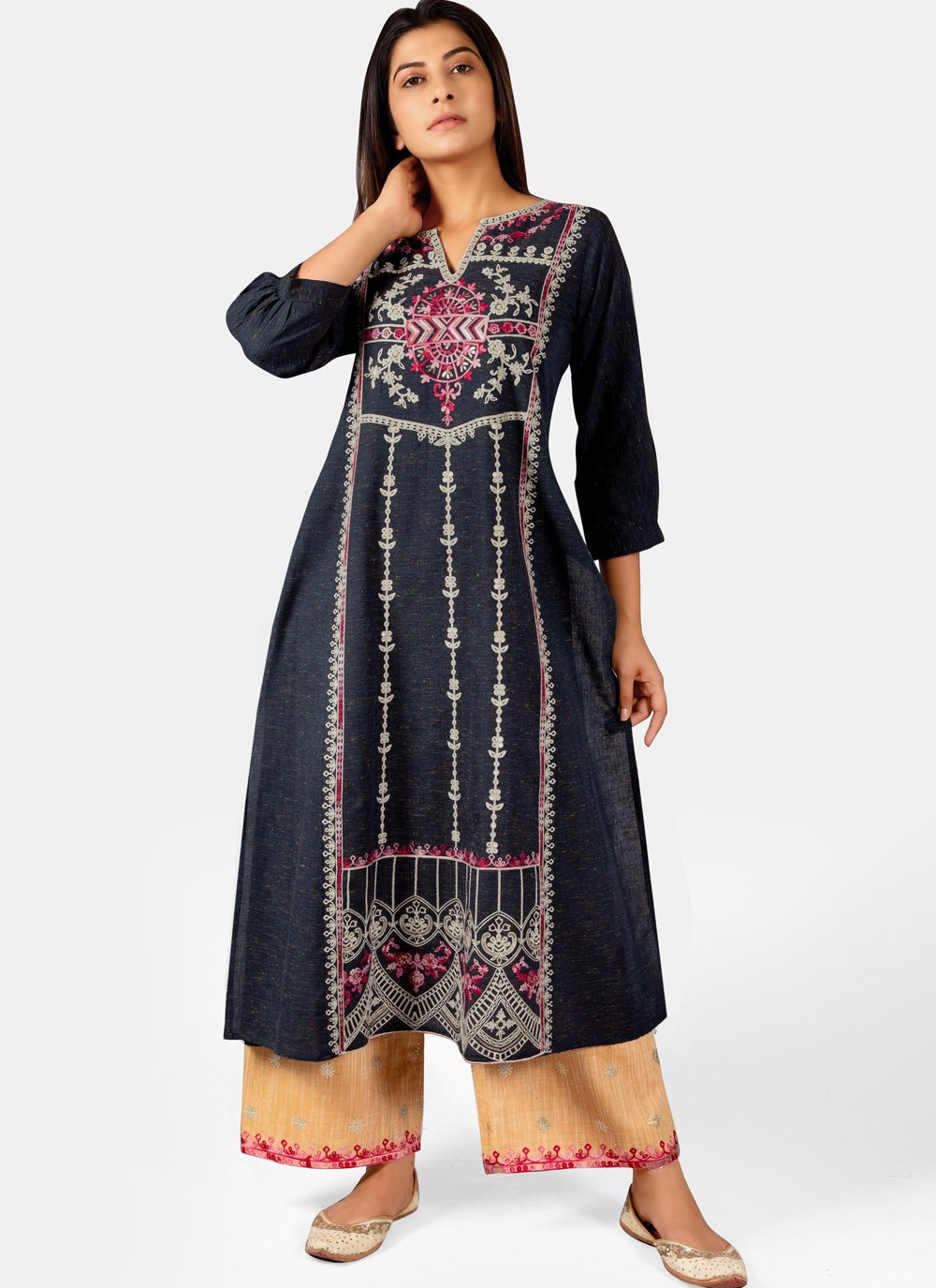 Embroidered Festival Casual Kurti