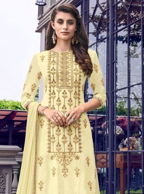 Embroidered Festival Designer Palazzo Salwar Suit