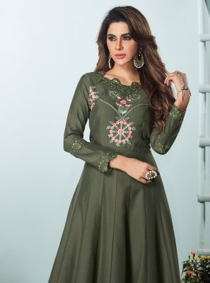 Embroidered Festival Floor Length Kurti