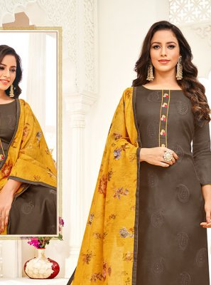 Embroidered Festival Trendy Churidar Salwar Kameez