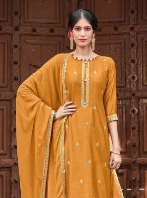 Embroidered Festival Trendy Palazzo Salwar Kameez