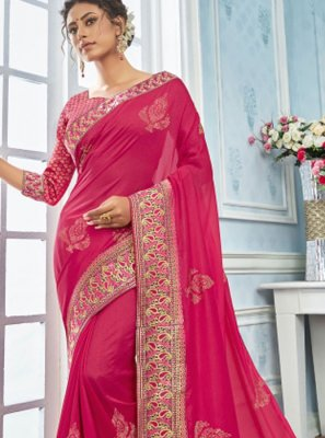 Embroidered Georgette Classic Saree