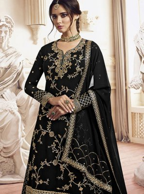 Embroidered Georgette Designer Palazzo Suit