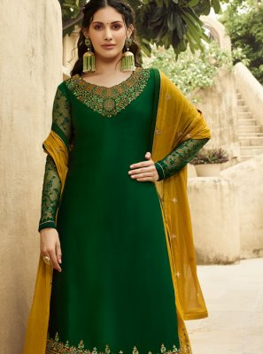 Embroidered Georgette Designer Salwar Suit