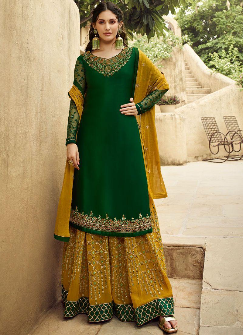 Embroidered Georgette Designer Salwar Suit
