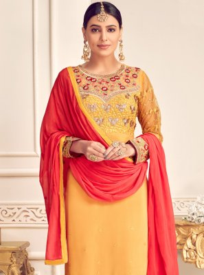 Embroidered Georgette Designer Suit