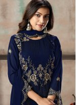 Embroidered Georgette Pant Style Suit