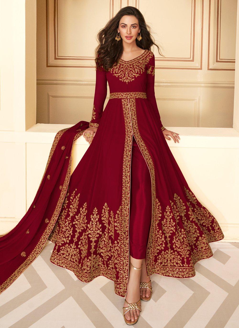 Embroidered Georgette Salwar Suit