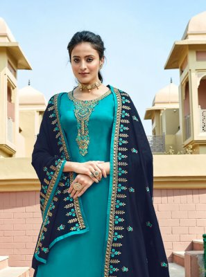Embroidered Georgette Trendy A Line Lehenga Choli