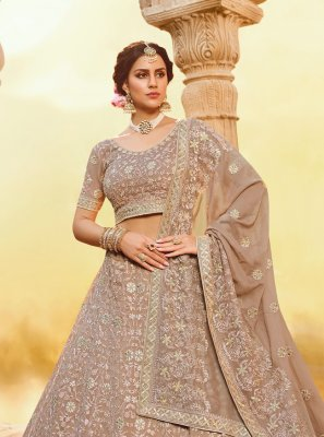 Embroidered Georgette Trendy Lehenga Choli
