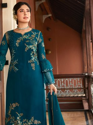 Embroidered Georgette Trendy Salwar Suit