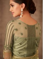 Embroidered Green Georgette Salwar Suit