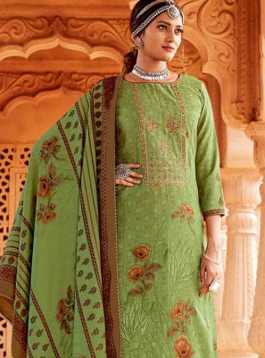 Embroidered Green Salwar Kameez