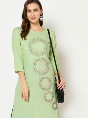 Embroidered Green Trendy Salwar Suit