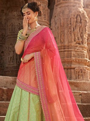 Embroidered Handloom silk Bollywood Lehenga Choli