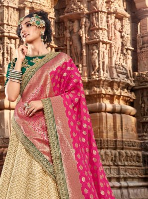 Embroidered Handloom silk Lehenga Choli