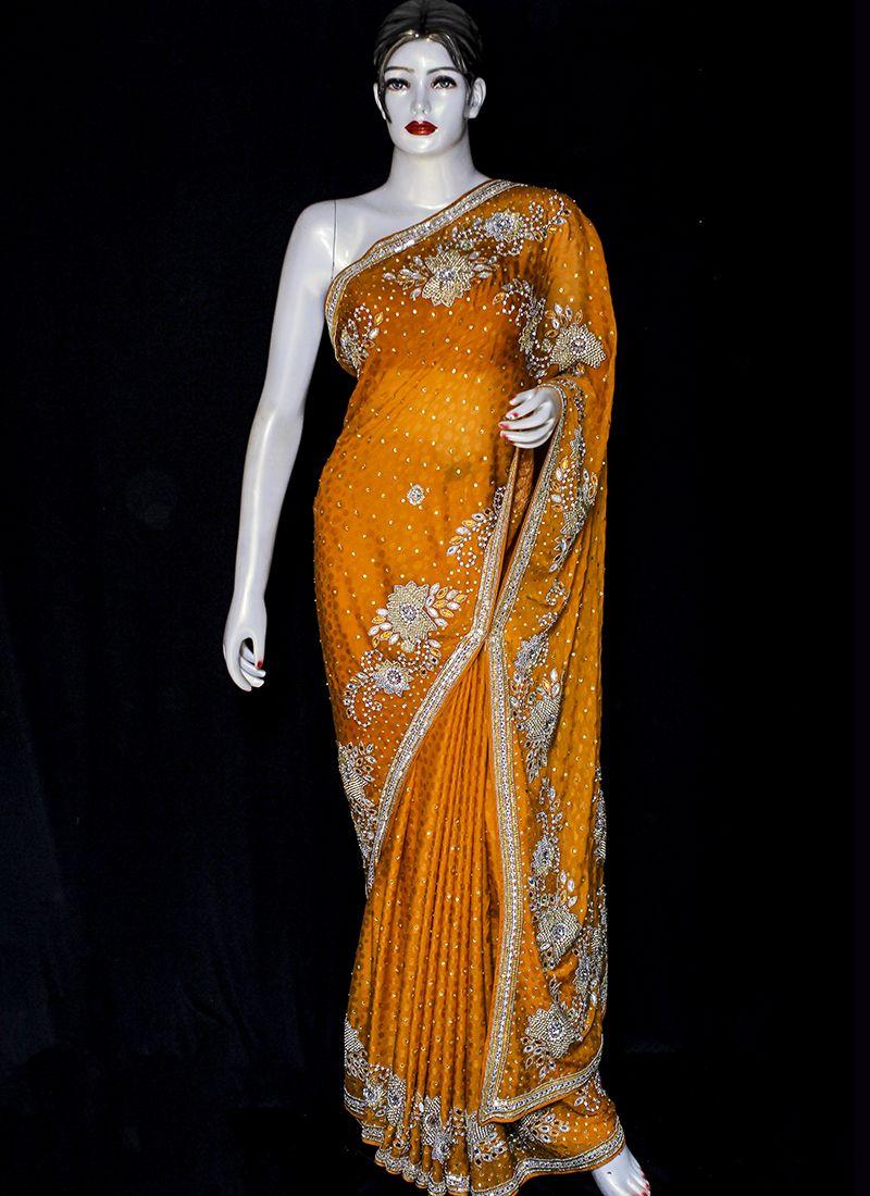Embroidered Jacquard Designer Saree