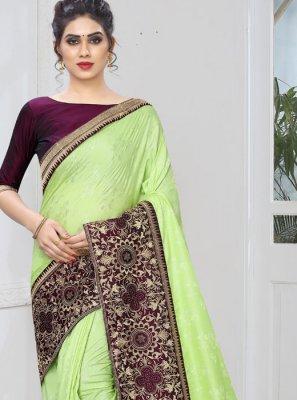 Embroidered Jacquard Silk Designer Traditional Saree