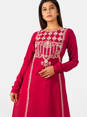 Embroidered Khadi Casual Kurti