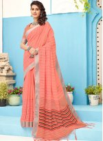 Embroidered Linen Classic Saree