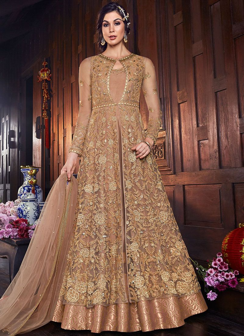 Embroidered Long Length Anarkali Salwar Suit