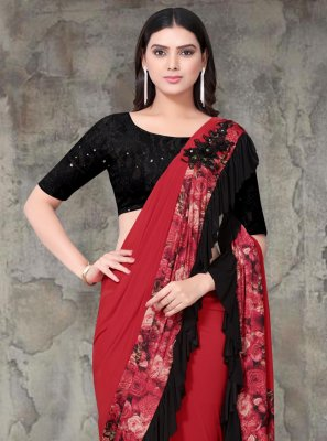 Embroidered Lycra Multi Colour Classic Saree