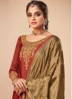 Embroidered Maroon Bollywood Salwar Kameez