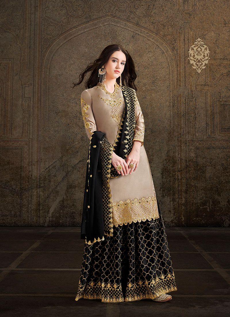 Embroidered Mehndi Salwar Suit