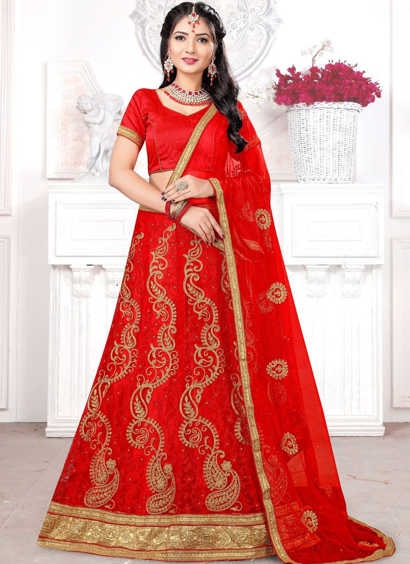 Embroidered Mehndi Trendy Lehenga Choli