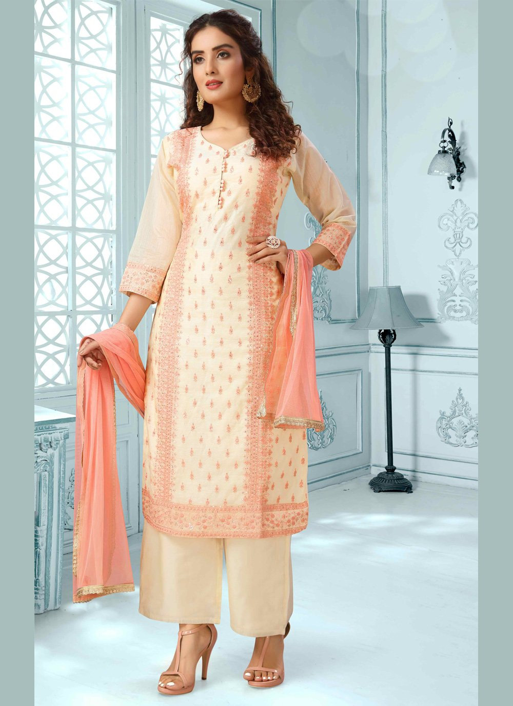 Embroidered Multi Colour Designer Salwar Suit