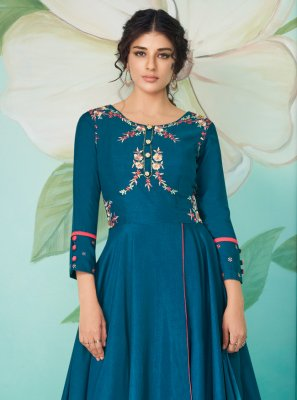 Embroidered Muslin Trendy Salwar Suit