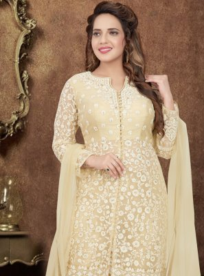 Embroidered Net Bollywood Salwar Kameez