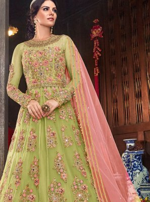 Embroidered Net Floor Length Anarkali Salwar Suit