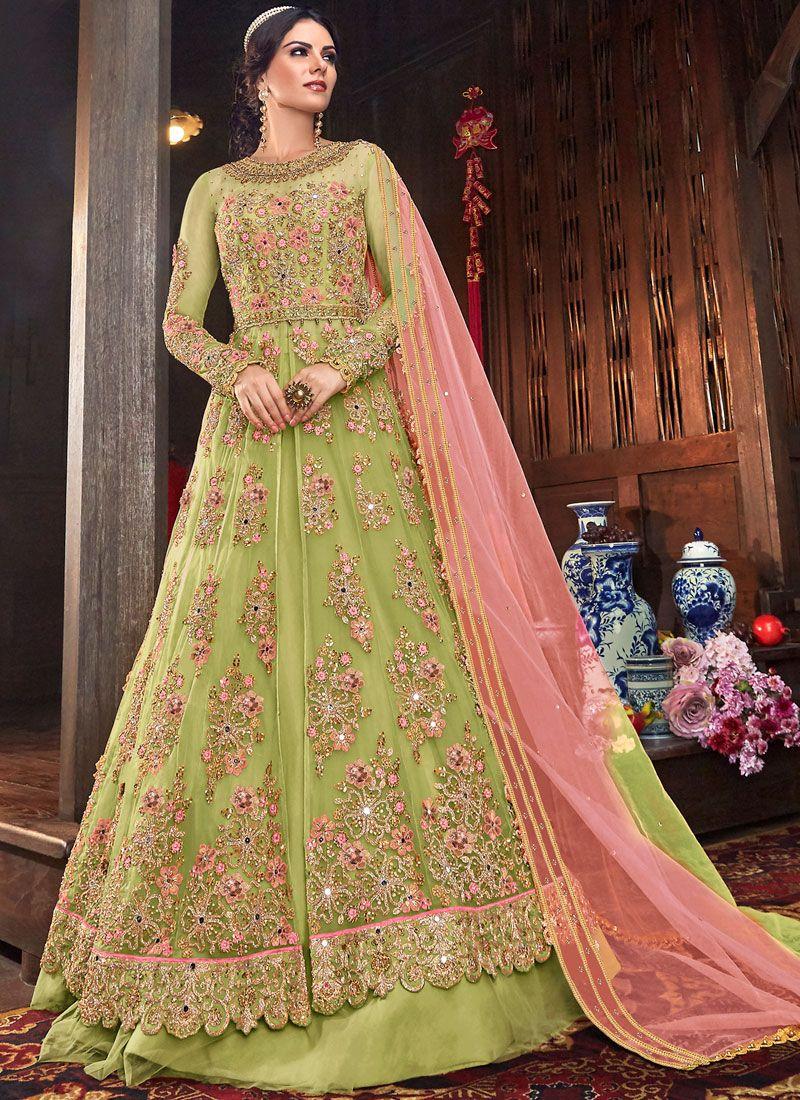 Embroidered Net Floor Length Anarkali Salwar Suit