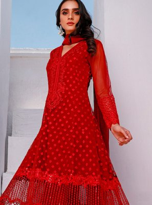 Embroidered Net Salwar Kameez