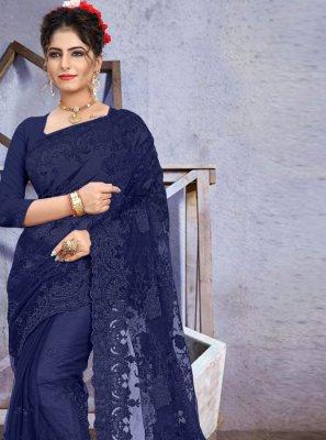 Embroidered Net Traditional Designer Saree