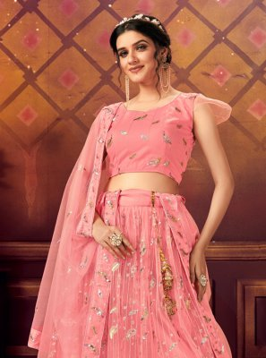 Embroidered Net Trendy Lehenga Choli