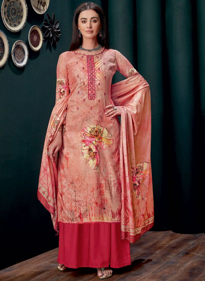 Embroidered Party Designer Palazzo Salwar Suit