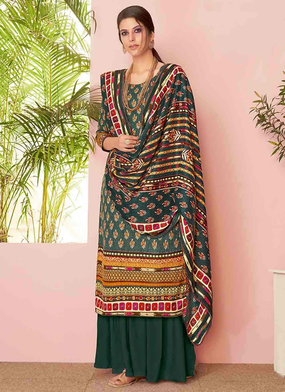 Embroidered Party Designer Palazzo Suit