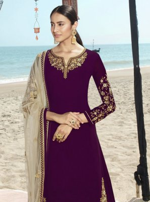 Embroidered Party Salwar Suit