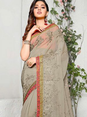 Embroidered Party Saree