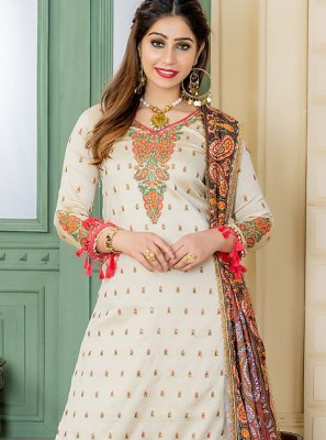 Embroidered Party Trendy Palazzo Salwar Suit