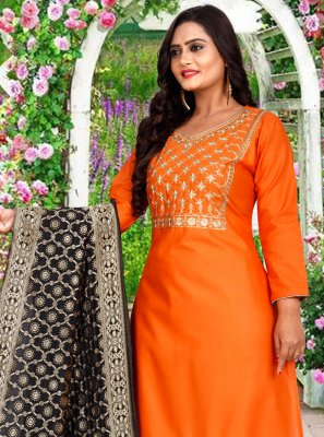 Embroidered Party Trendy Salwar Suit